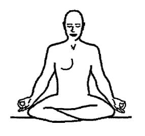 Simple Pose with Gyan Mudra