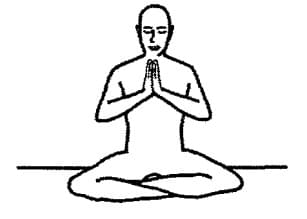 Simple Pose with Prayer Mudra